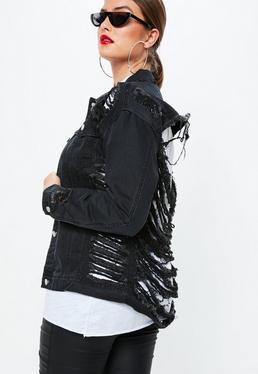 Czarna jeansowa kurtka Plus Size