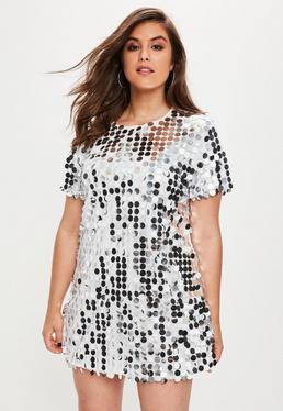 Plus Size Sequin T-Shirt Dress