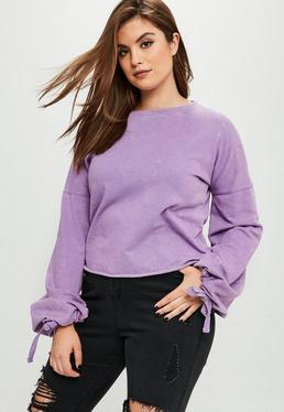 Curve Purple Washed Sweatshirt