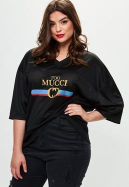 Curve Logo Print T-shirt