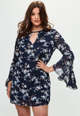Curve Navy Tunic Dress