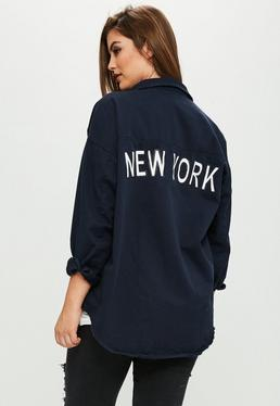 Curve Navy New York Shirt