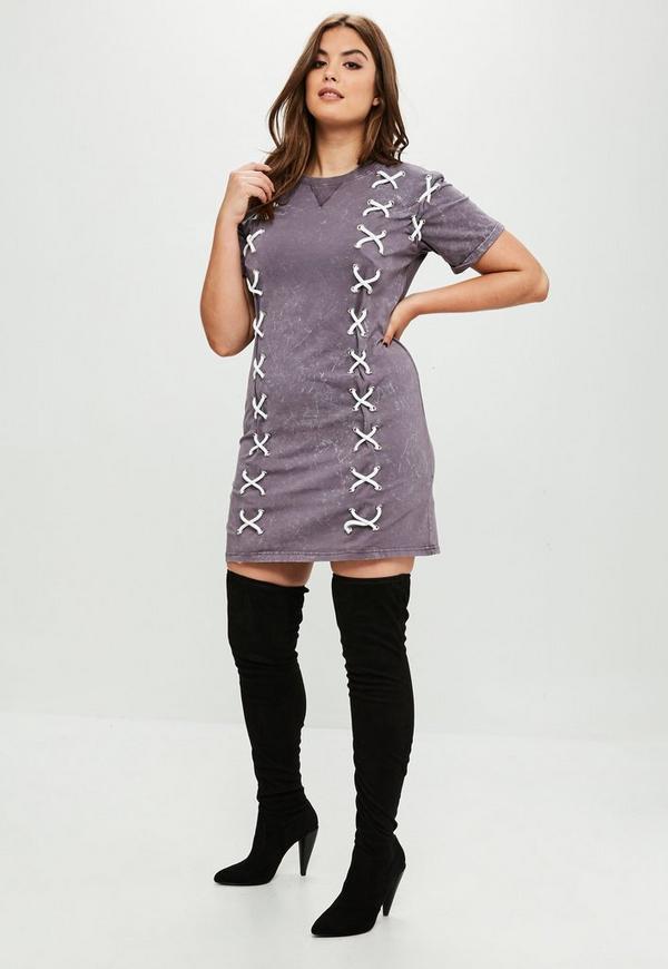 Lace tee shirt dress