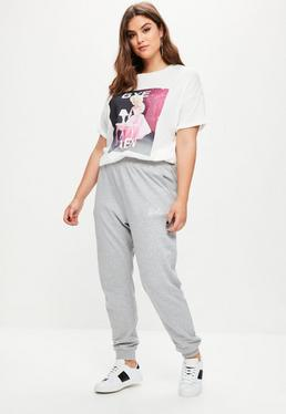 Curve Barbie x Missguided Grey Plain Joggers