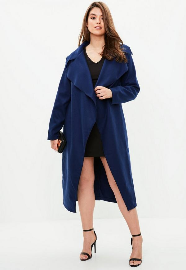 efe1fbec4731a Burgundy Oversized Waterfall Duster Coat Missguided