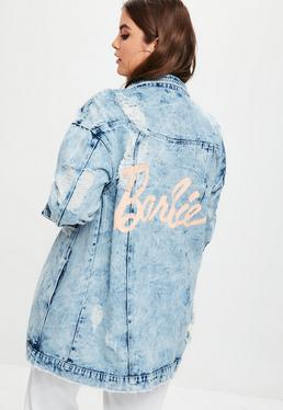 Plus Size Barbie x Missguided Blue Barbie Denim Jacket