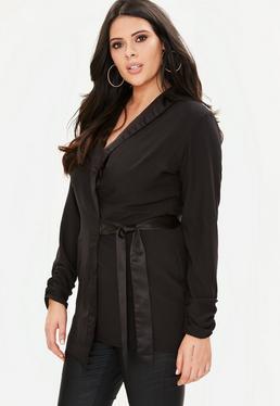 Curve Black Tuxedo Wrap Jacket