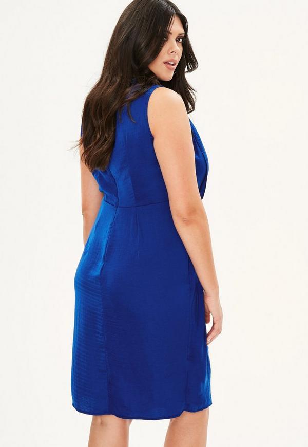 Robe bleu electrique courte