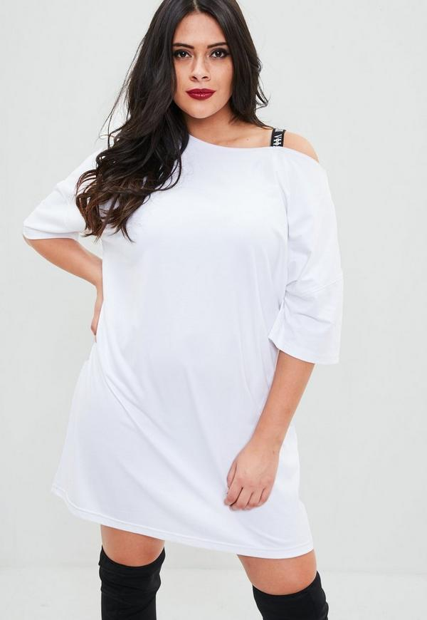 robe t shirt blanche grande taille missguided. Black Bedroom Furniture Sets. Home Design Ideas