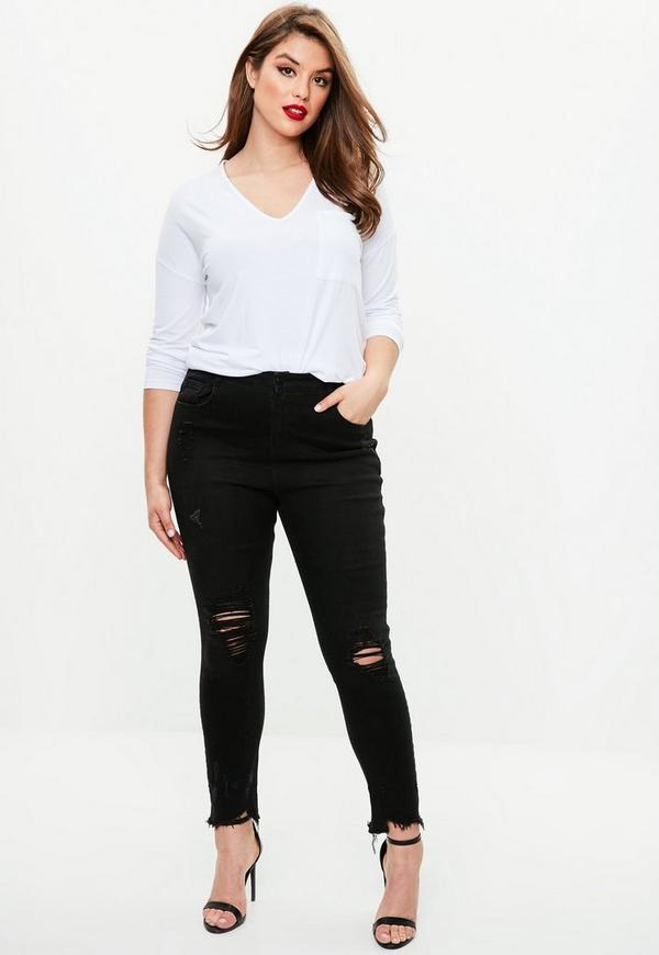 Curve Black Ripped Jeans by Missguided