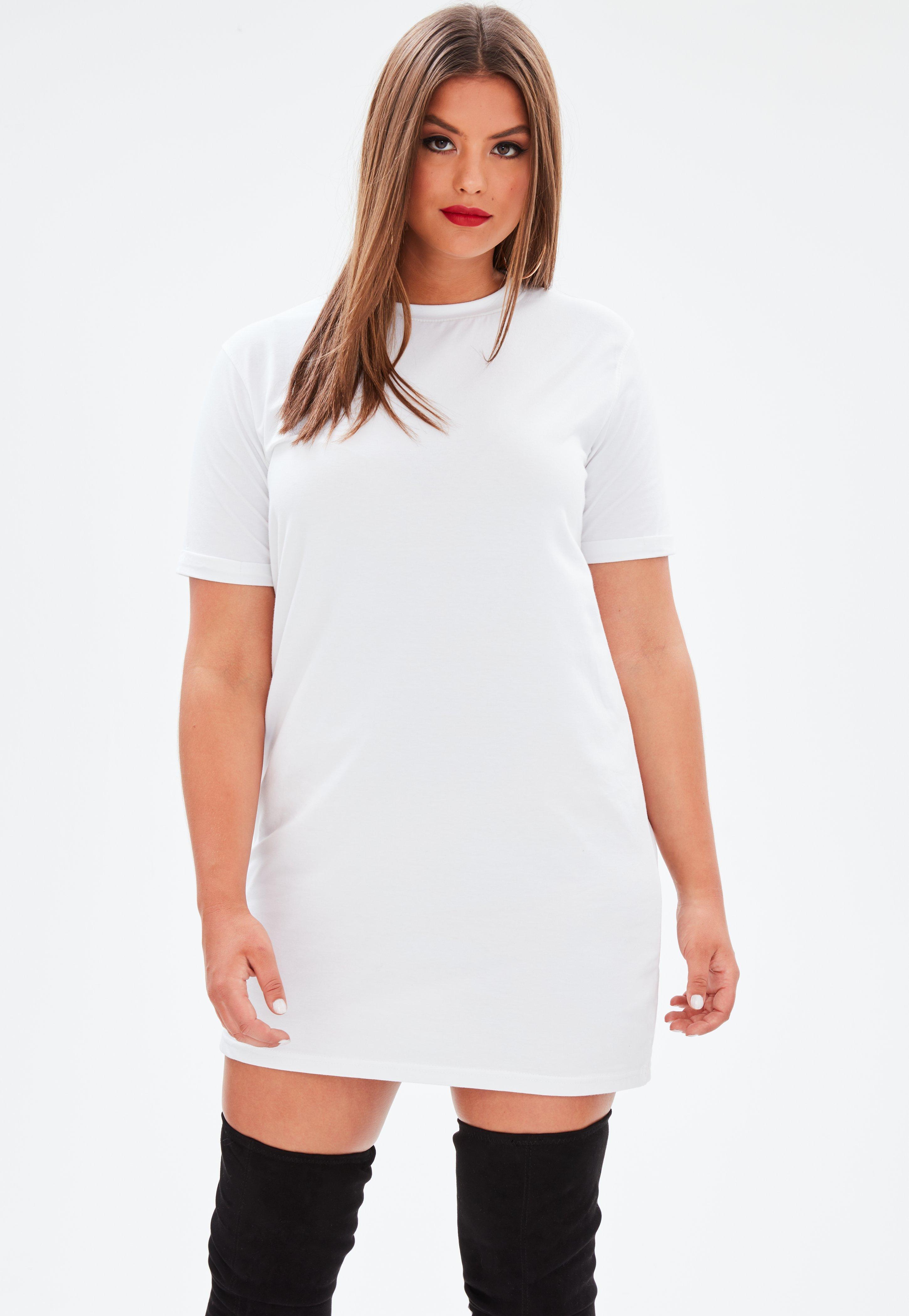 Shirt dress white long