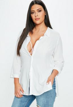 Curve Cream Short Sleeve Shirt