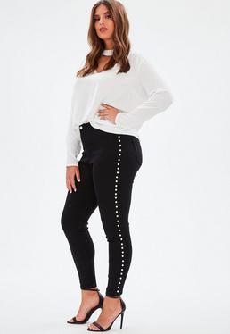 Plus Size Czarne jeansy Vice
