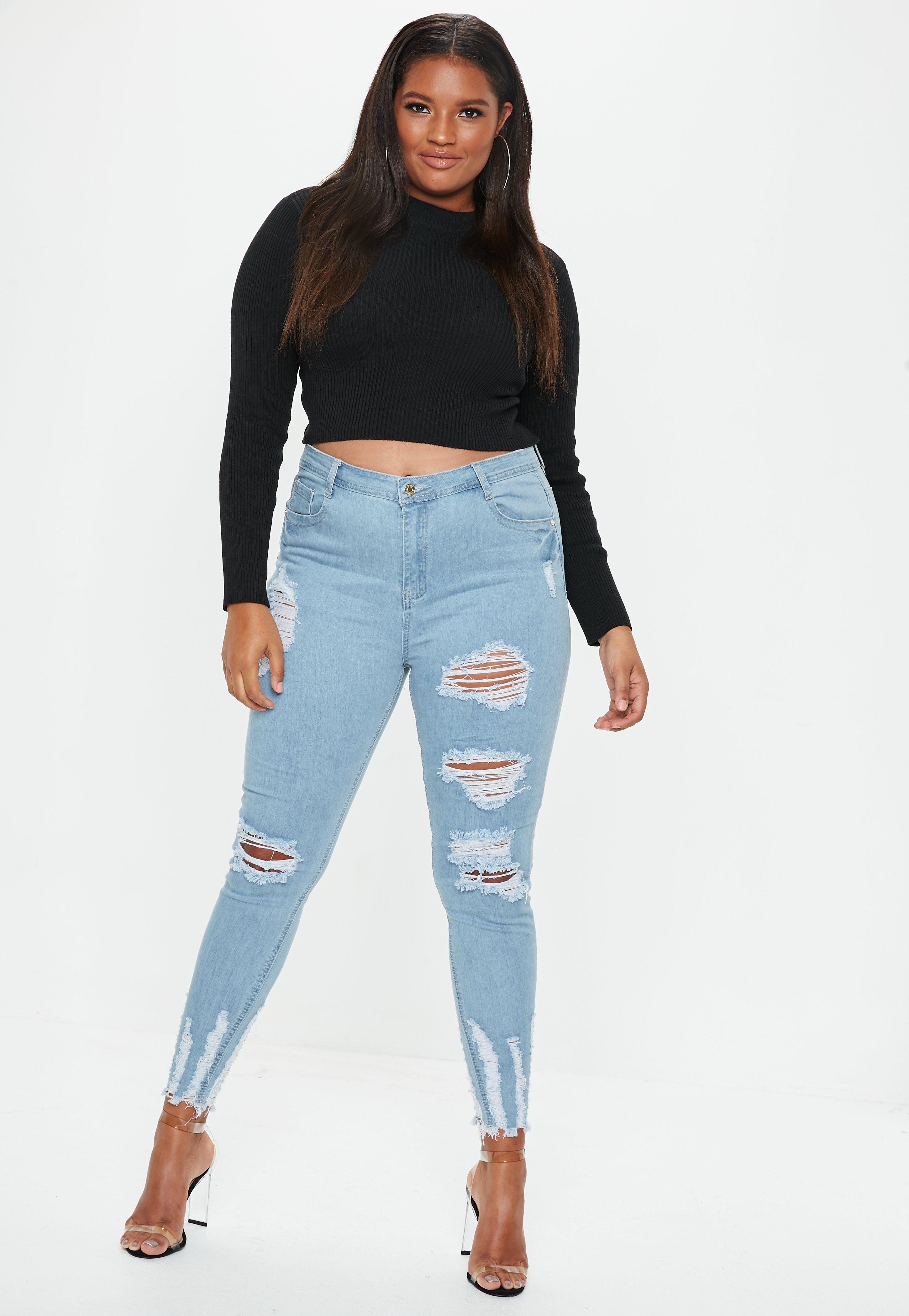 Hüfthohe Jeans   High-Waist Jeanshosen - Missguided 8e29a771f8