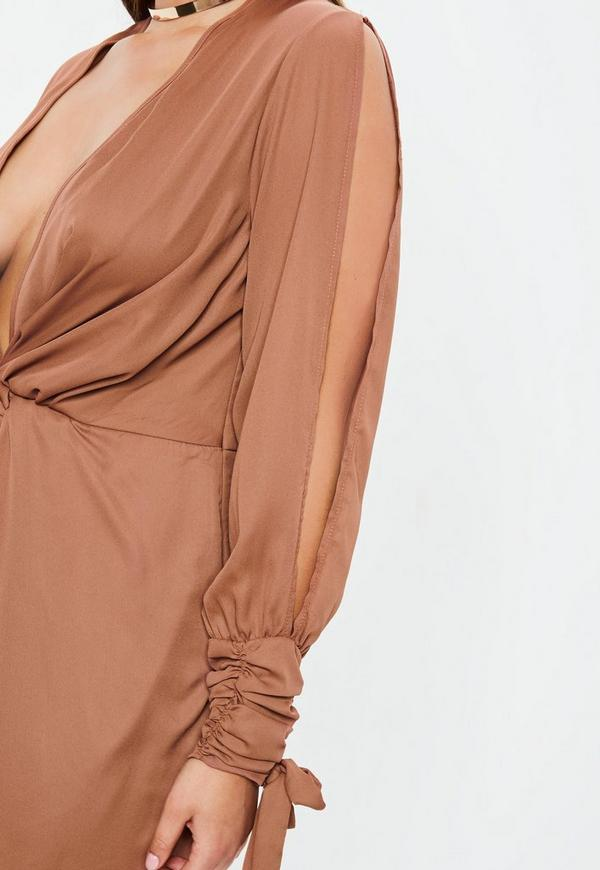how to wear twist front missguided dress