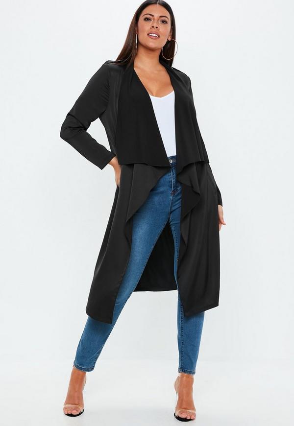87a26da636ba1 plus size black waterfall jacket