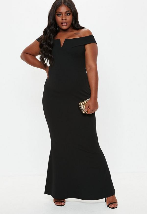 Black Plus Size Maxi Dresses