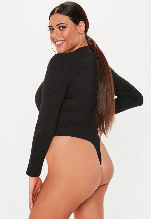 ... Plus Size Black Button Front Bodysuit. Previous Next 3b47783ba