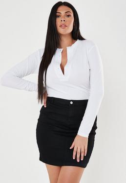 6cc6af3d8ed4 Plus Size Skirts | Plus Size Denim & Leather Skirts - Missguided