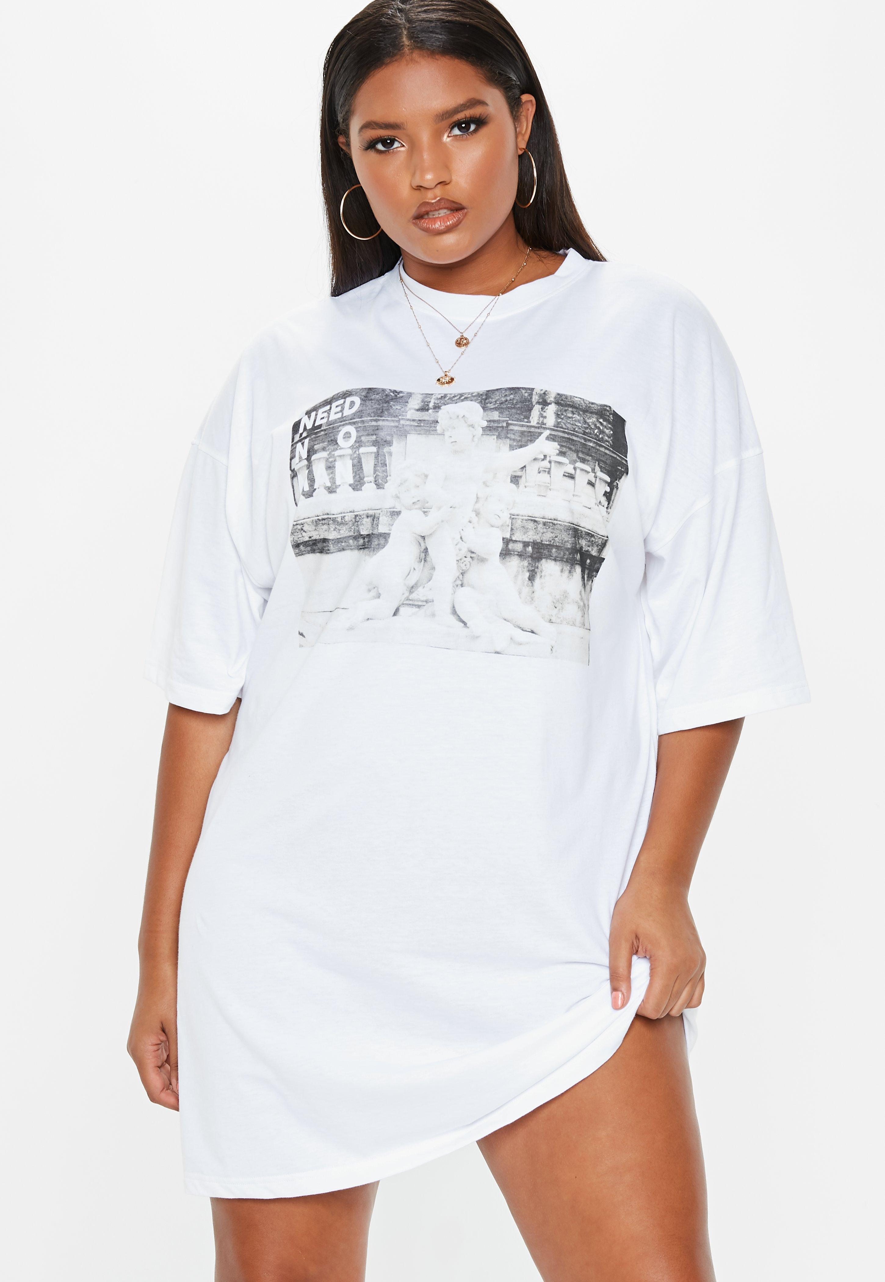 a9bc968eaba5 plus-size-white-oversized-slogan-t-shirt-dress