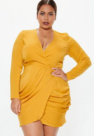 e1f13b835 Plus Size Gold Two Way Sequin T-Shirt Dress   Missguided