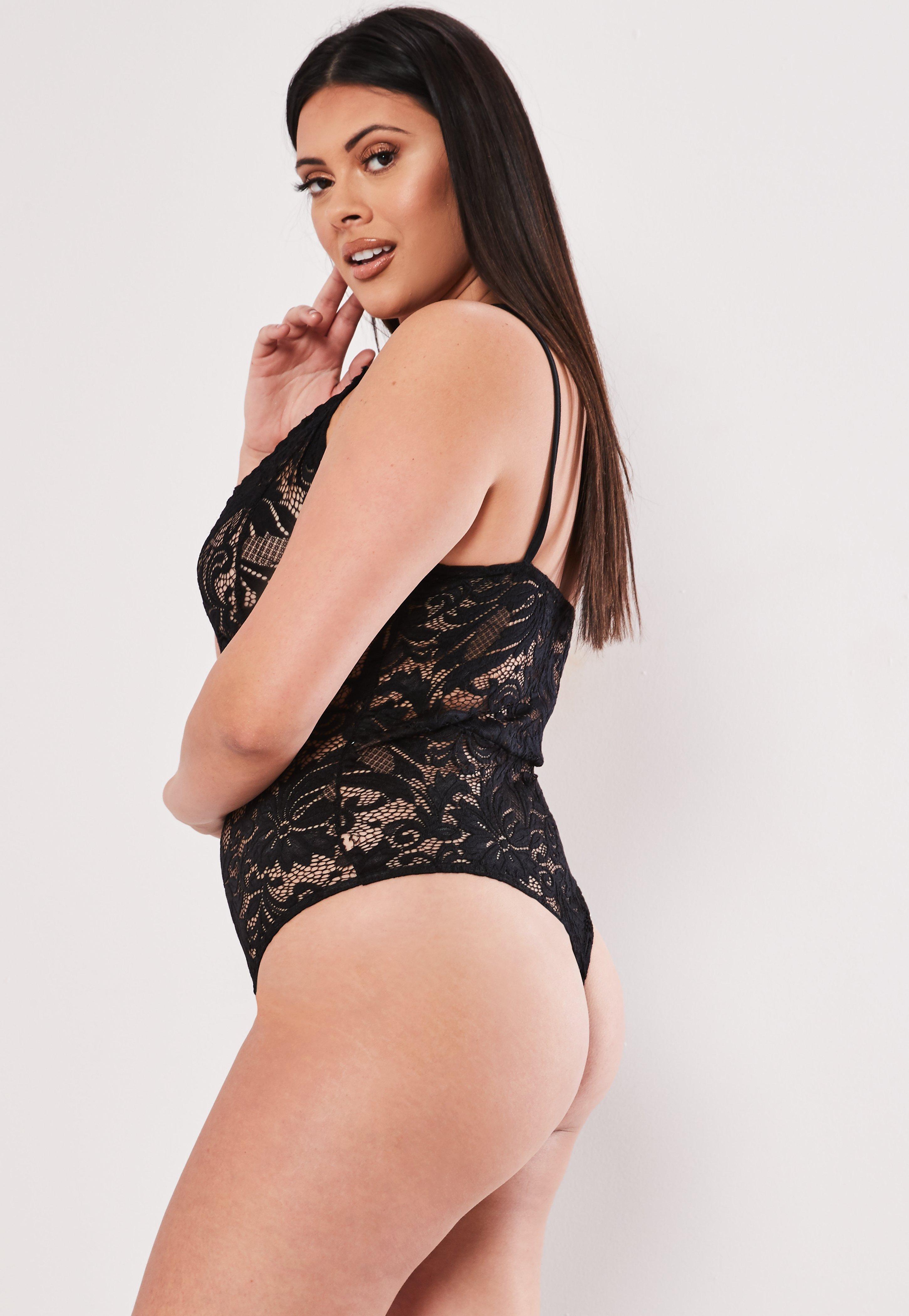 d9323317a30a6 Plus size black lace bodysuit missguided australia jpg 600x869 Plus lace  body