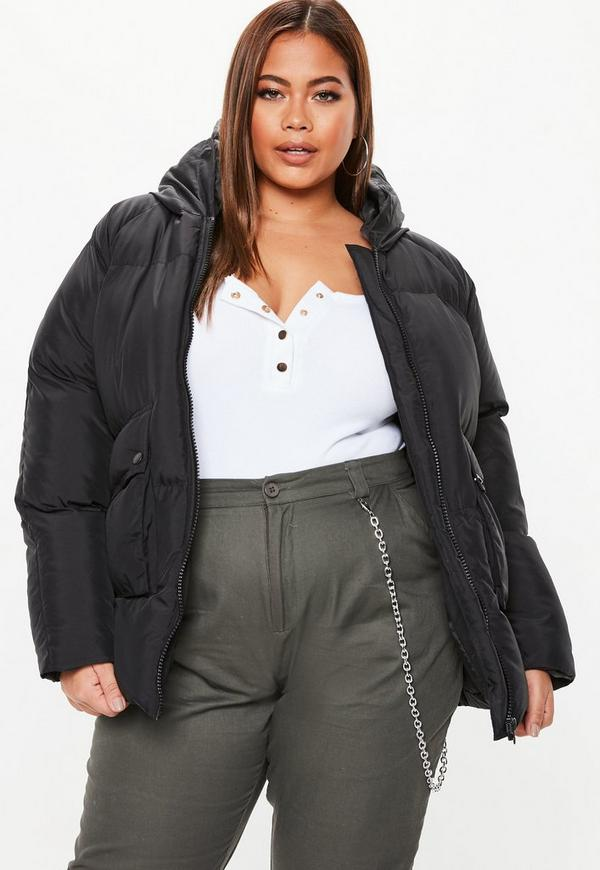 d3addecb2e8b Plus Size Black Ultimate Hooded Puffer Jacket. Previous Next
