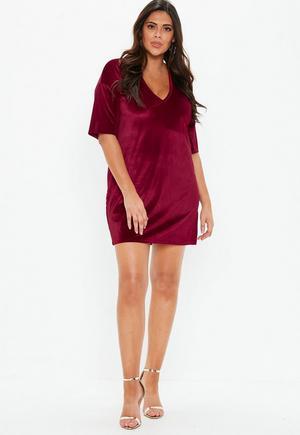 63ea1a4d66923 Plus Size Brown V Neck Leopard Print T Shirt Dress