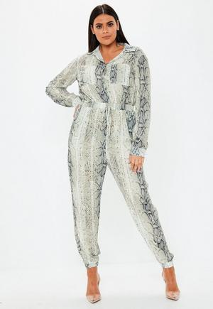 63a13b7b6fc Plus Size Brown Kimono Sleeve Culotte Polka Dot Jumpsuit