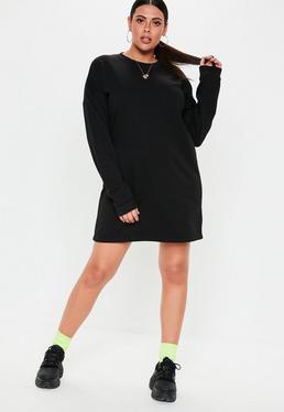 0e491e346f856 ... Plus Size Black Oversized Sweater Dress