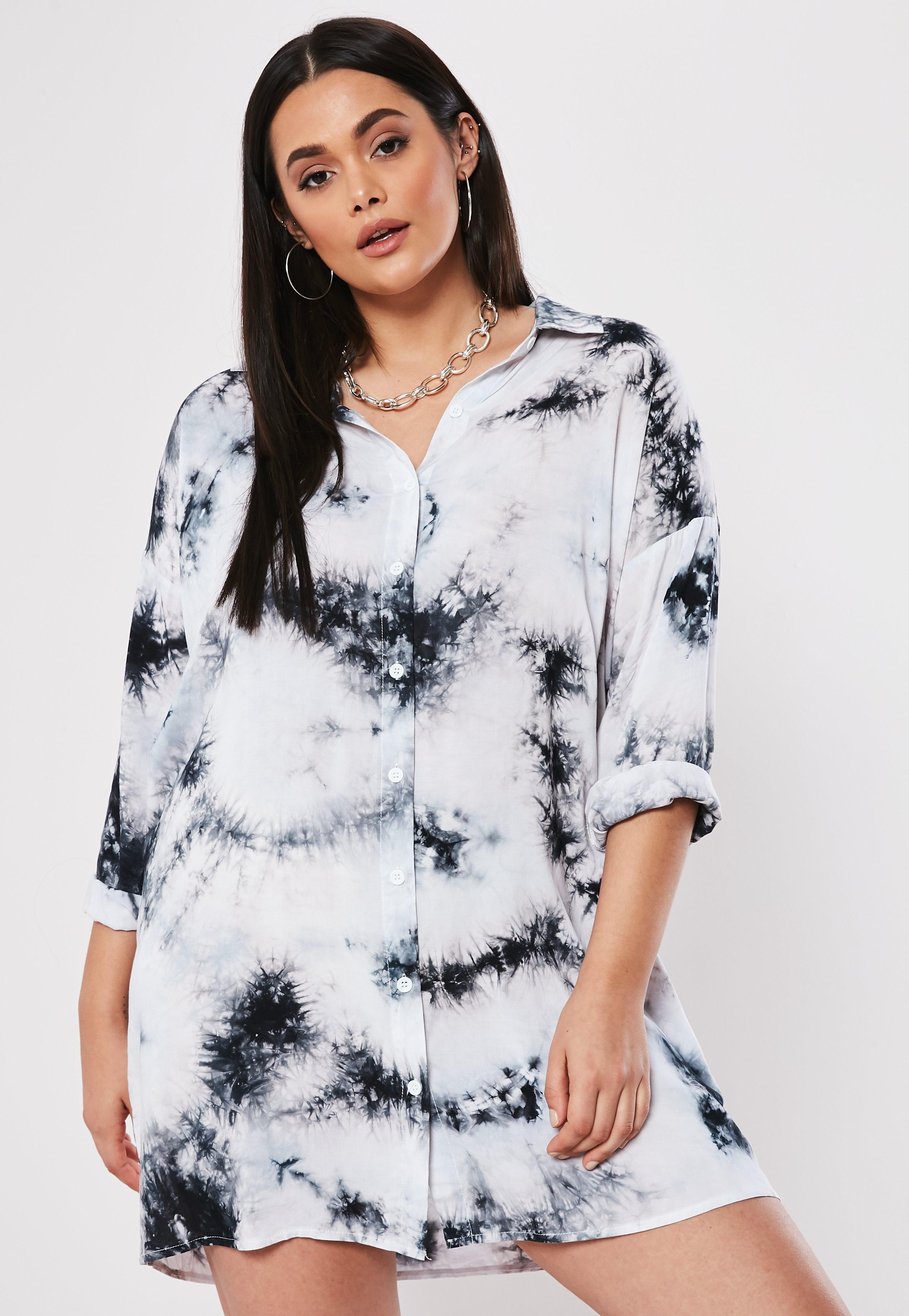 Grandes Tailles Blanche Chemise Robe Oversize VzMUqSp