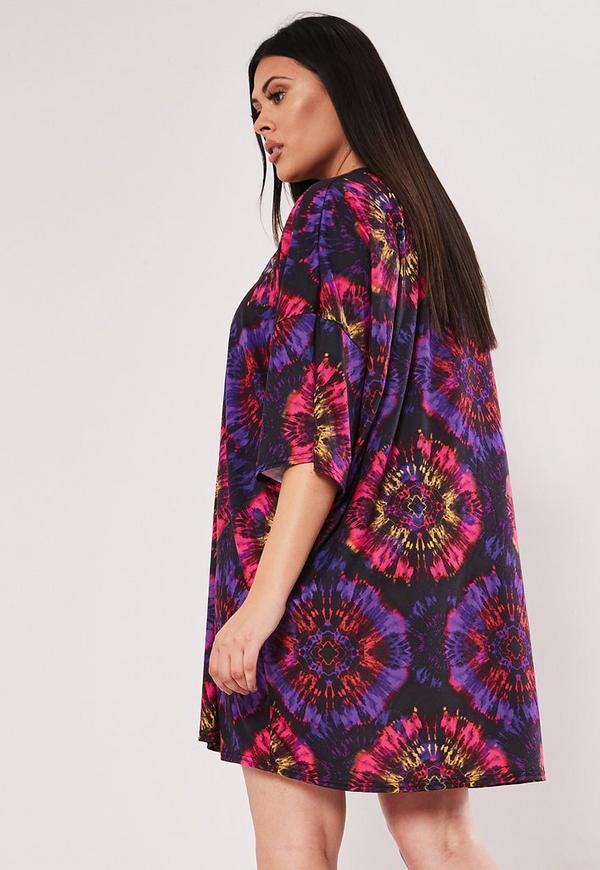 773869b05233 ... Purple Tie Dye Oversized T Shirt Dress. Previous Next