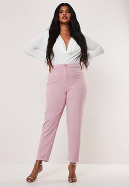 Сиреневые сигаретные брюки большого размера