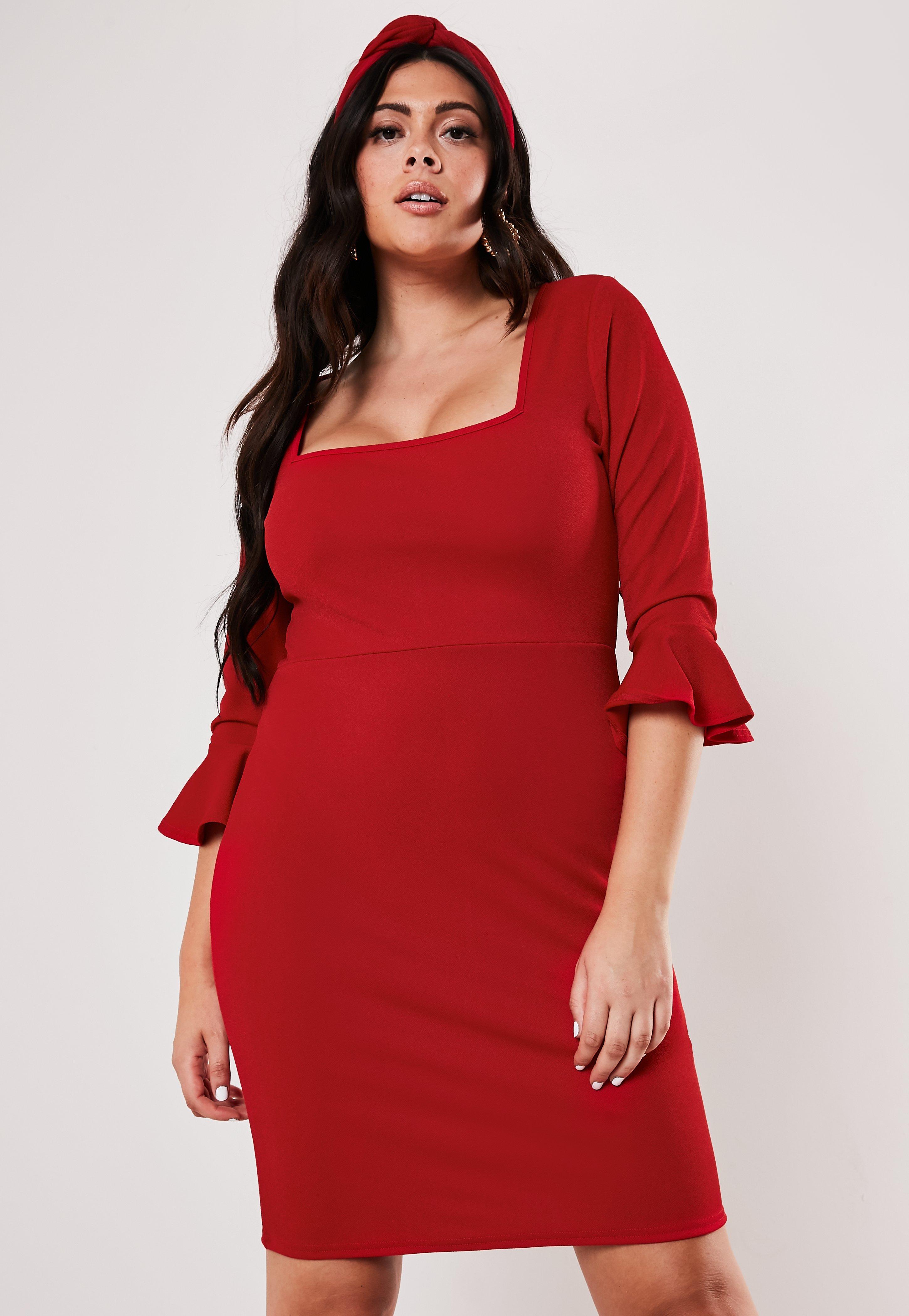 4406bb547a51 Plus Size Dresses UK | Women's Plus Size Dresses | Missguided