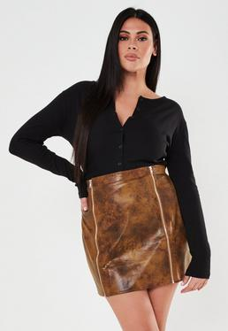 RUFFLE SKIRT Genuine leather Light summer mini skirt Leather skirt women Natural leather skirt Handcrafted mini skirt Custom made plus size