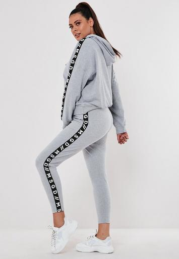 Plus Size Active Gray Co Ord MSGD Lounge Leggings