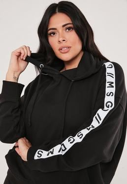 Plus Size Active Black Co Ord Lounge Hoodie