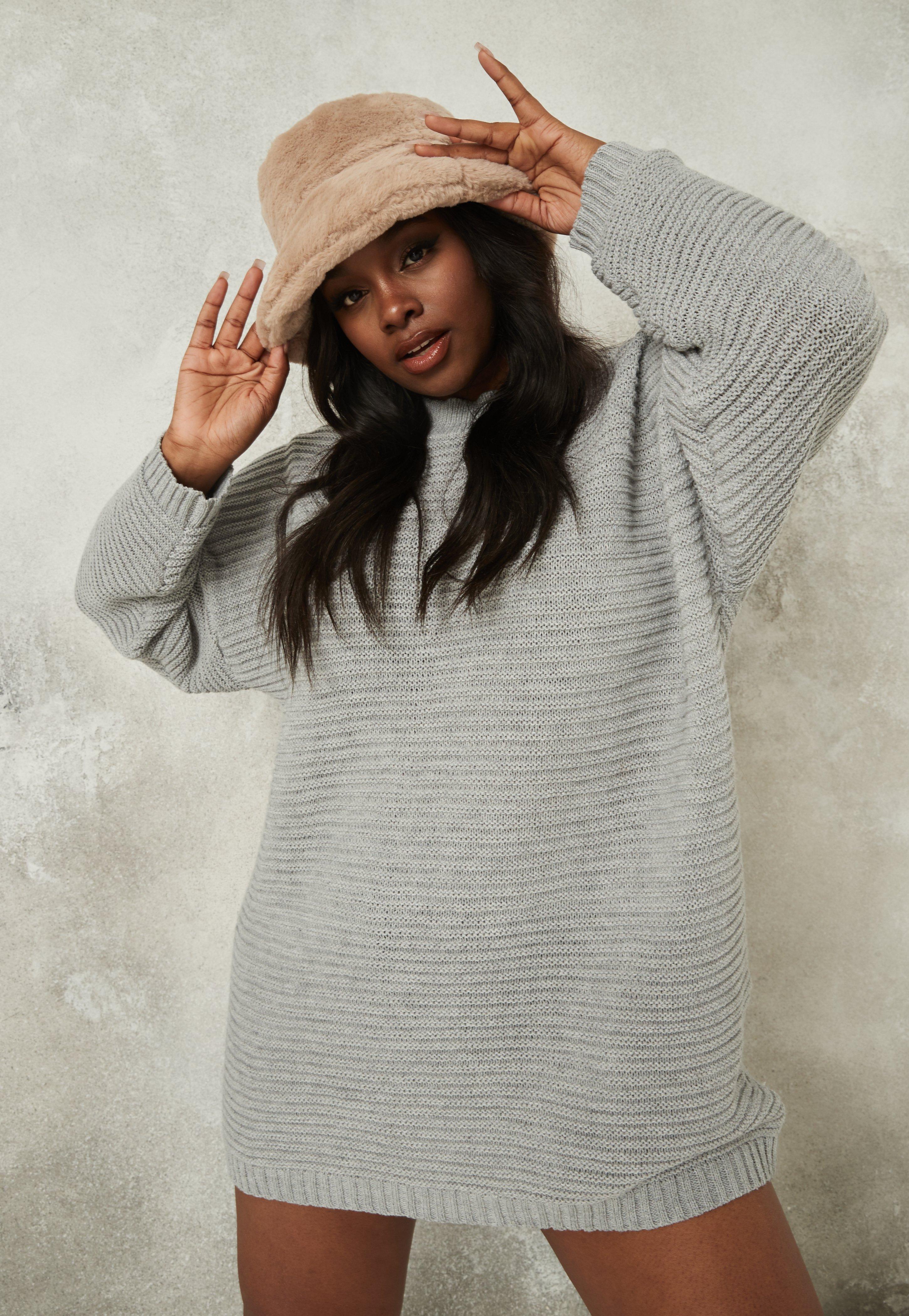 Knit grey Jumper dress