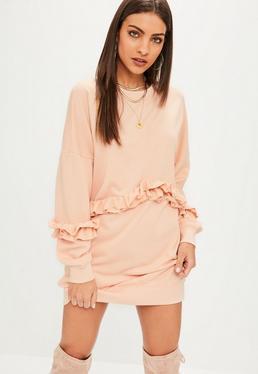Pink Frill Jumper Dress
