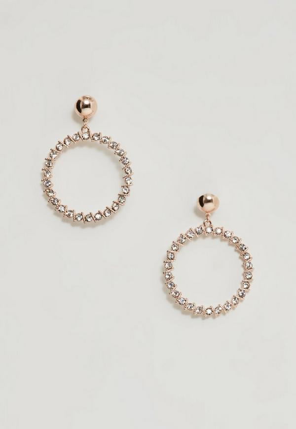 circle drop missybrown diamante earrings mb