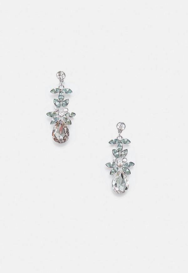 Silver Diamante Drop Earrings 18 00 Previous Next
