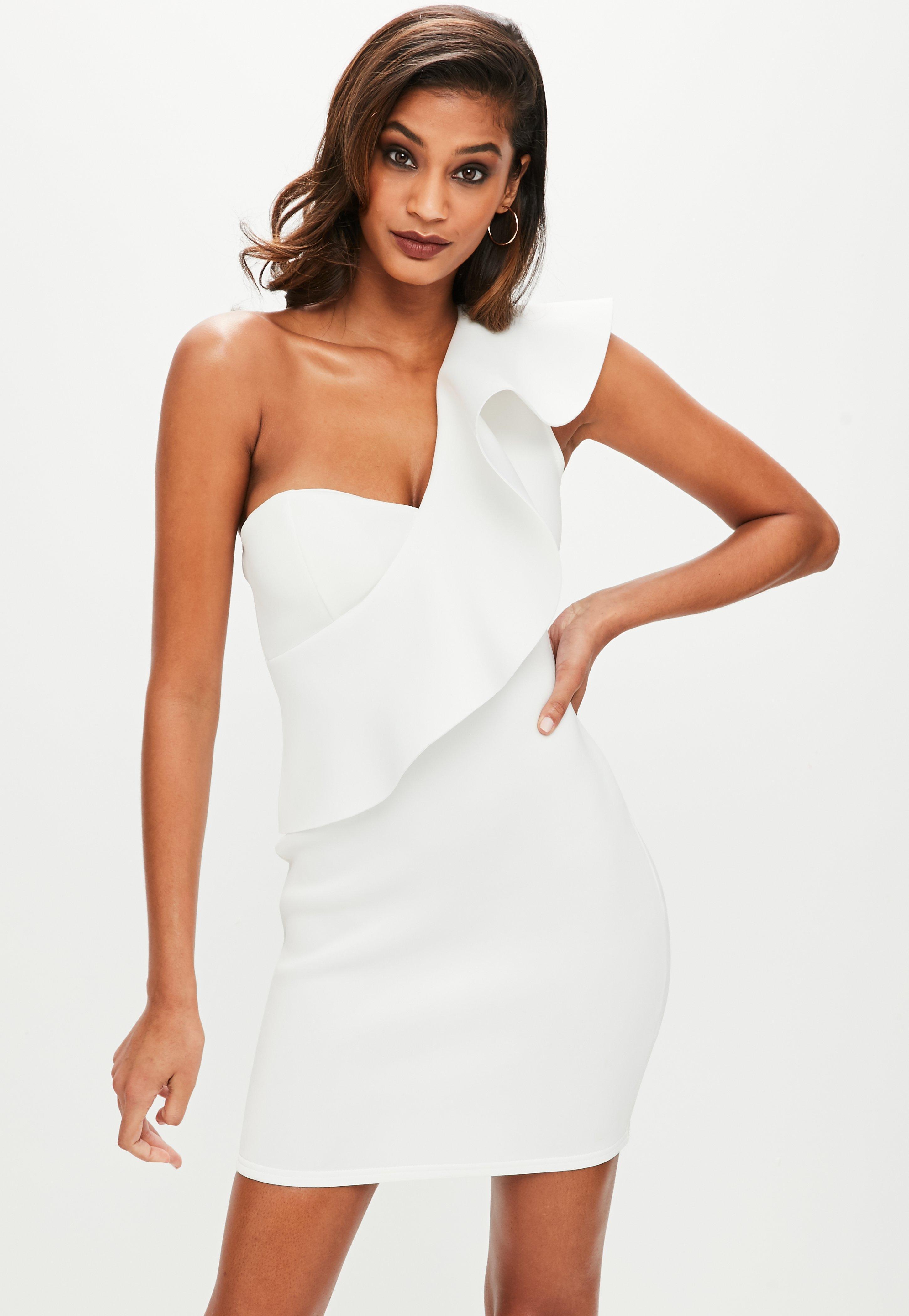 White One Shoulder Dress