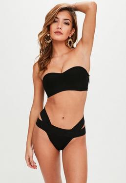 Black Bandage Bralet Bikini Set