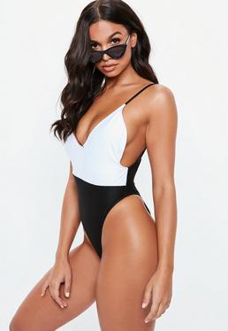 dc312c91b1 Ribbed Swimsuits. Cut Out Swimsuits