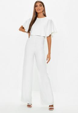 2fc38dc87c5 Bandeau Double Layer Jumpsuit White
