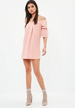 Pink Bardot Ponte Dress