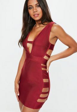 Red Bandage Bodycon Mini Dress