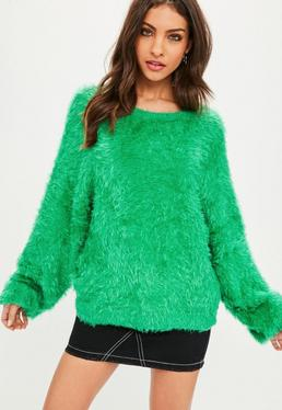 Green Dolma Eyelash Sweater