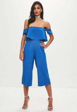 Blue Culotte Jumpsuit