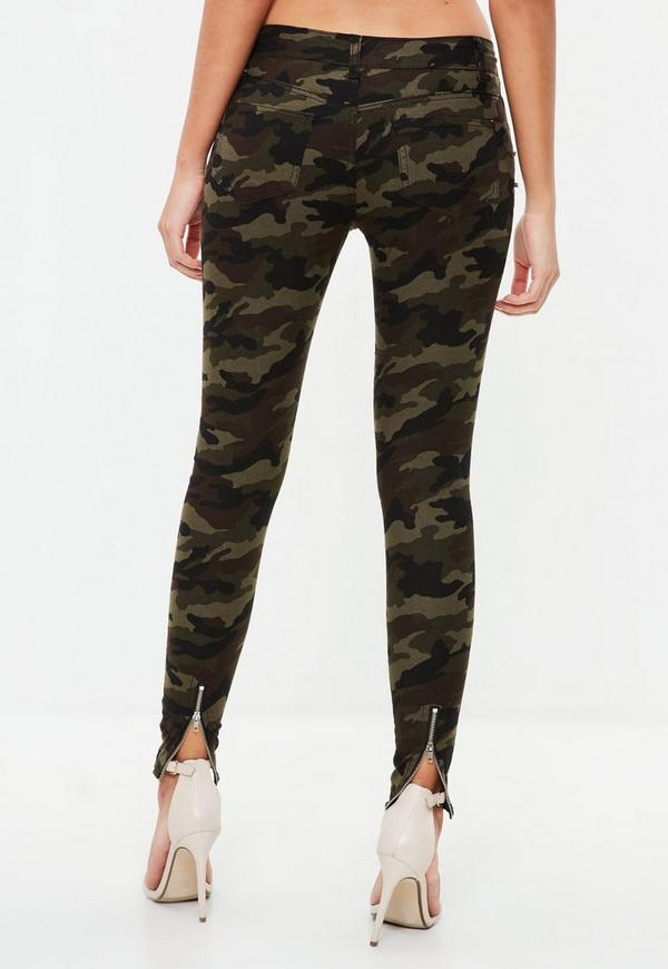 pantalon vert kaki imprim camouflage missguided. Black Bedroom Furniture Sets. Home Design Ideas
